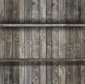 Drewniane półki — Zdjęcie stockowe