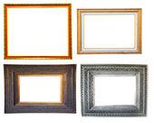 4 Vintage photo wood frame — Stock Photo