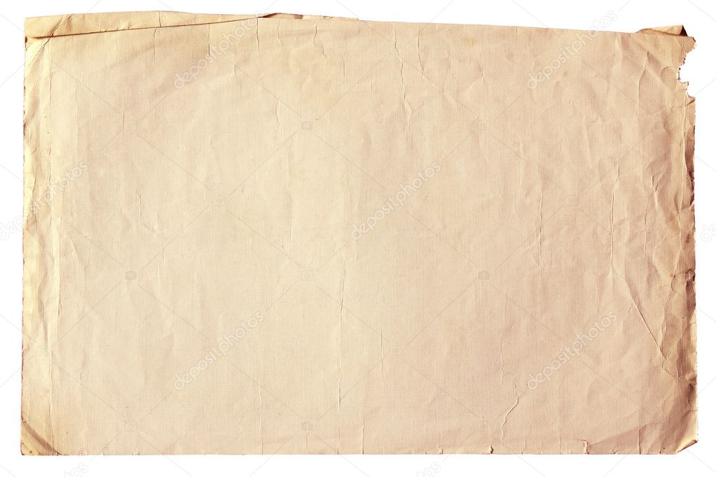 Vintage old paper with clipping path — Stock Photo #9827641