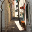The old city street on a sunny day — Stock Photo