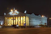 Palace of Trade Unions in Minsk at night — Stock Photo