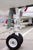 Front landing gear light aircraft — Stock Photo