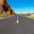 Road in the frozen lava in the crater — Stock Photo #9100794