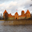 Trakai Castle on a cloudy day — Stock Photo