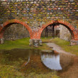 Stock Photo: Arches of stone in castle
