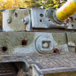 PzKpfw VI Tiger destroyed tank — Stock Photo
