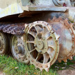 Part of PzKpfw VI Tiger destroyed tank — Stock Photo