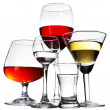 Stemware on white background — Stock Photo
