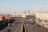 Road traffic in the center of Moscow — Stock Photo