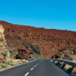 Road in the frozen lava in the crater — Stock Photo #9643727