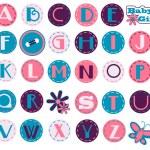 Alphabet Set - Girl — Stock Vector