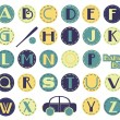 Royalty-Free Stock Vector Image: Alphabet Set - Boy
