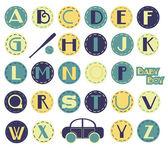 Alphabet Set - Boy — Stock Vector