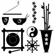 Buddhism Symbols - Stock Vector