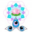 Third eye - Flower of life — Stock Vector