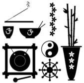 Buddhism Symbols — Stock Vector
