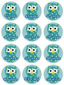 Pregnancy Owl-Boy — Stock Vector
