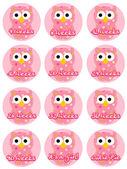 Pregnancy Owl- Girl — Stock Vector