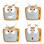Set of cartoon tv emotional symbol — Stock Vector #9183113