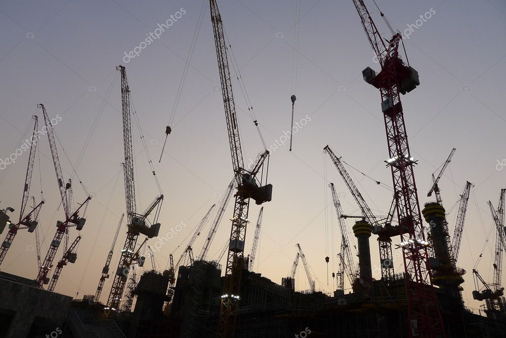 Construction at Makkah, Saudi Arabia appear interseting during sunset. Taken during trip to Makkah. — Stock Photo #8613665