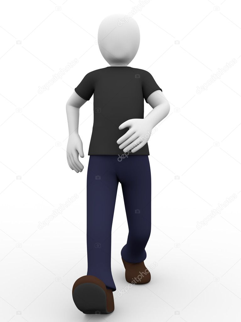 A confident boy is walking forward — Stock Photo #10559598