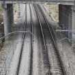 Foto Stock: Train rails