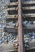 Detail of an abandoned railroad — Stock Photo