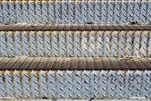 Dirty metallic steps — Stock Photo