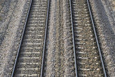 Train railroads — 图库照片
