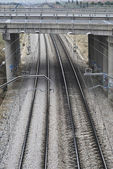 Train rails — Stock fotografie