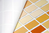 Orange color swatches — Stock Photo