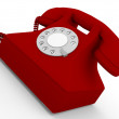 Old telephone in red — Stock Photo