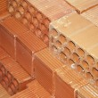 Clay bricks - Stock Photo