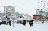Vorkuta stad i vinter — Stockfoto
