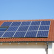 Roof With Photovoltaic System — Stock Photo