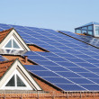 Roof With Photovoltaic System - Stock Photo