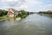 Donau i regensburg — Stockfoto