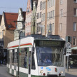 AUGSBURG, GERMANY - APRIL 16: Cable car in Augsburg on April 16, 2011. Augs — Stock Photo