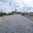 Regensburg stone bridge — Stock Photo