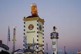 Beer tents at the Oktoberfest. — Stock Photo