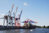 Hamburg port — Stock Photo
