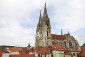 Katedrála v regensburgu — Stock fotografie