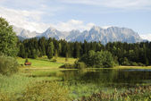 Lake in the alps — Stock Photo