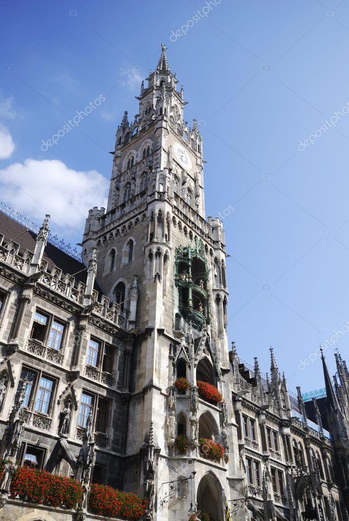 City hall of Munich at the Marienplatz — Stock Photo #8952032