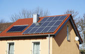 Photovoltaic And Solar Heating System — Stock Photo
