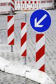 Road Construction Barricade — Stock Photo
