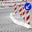 Stock Photo: Road Construction Barricade