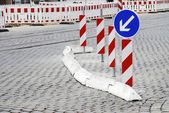 Road Construction Barricade — Stock Photo