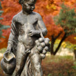 Statue in Autumn. Maribor, Slovenia - Stock Photo