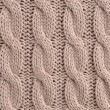 Stock Photo: Cable Knitted Background